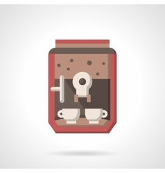 Coffee maker with cups flat icon vector image vector image