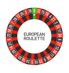 european roulette wheel vector image vector image