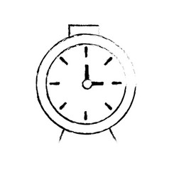 Figure clock design to know the time vector