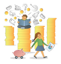 financial literacy concept vector image