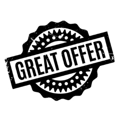 Great offer rubber stamp vector
