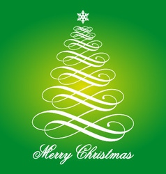 Green Christmas card vector image