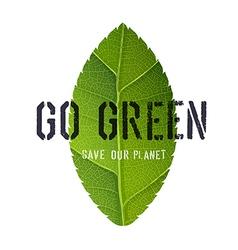 green leaf poster vector image vector image