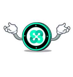 Hand up ethos coin character cartoon vector