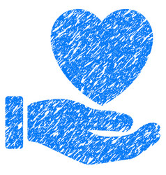 heart charity grunge icon vector image vector image