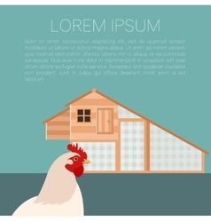 Henhouse banner with chicken vector image vector image