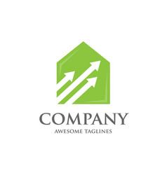 home management logo vector image vector image