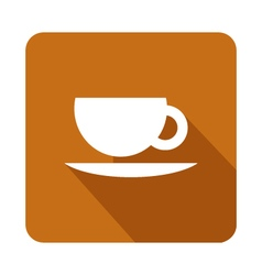 Icon coffee mug vector