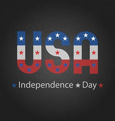 Independence day of USA grey background for poster vector image vector image