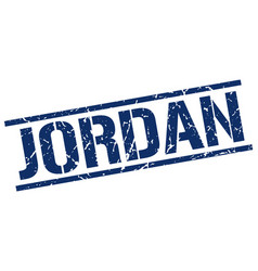 Jordan blue square stamp vector