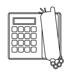 Landline phone icon image vector