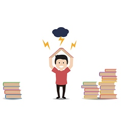 man holding a book vector image