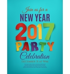New year 2017 party poster vector