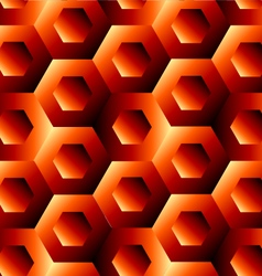 Optical with hexagon vector image
