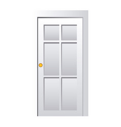 realistic closed white entrance door vector image