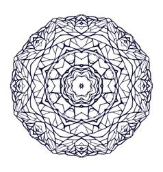 Round kaleidoscopic lace ornamental mandala vector