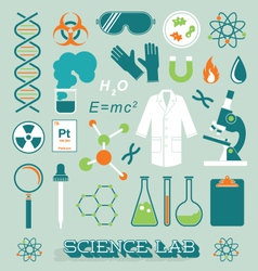 Science Lab Objects and Icons vector image vector image