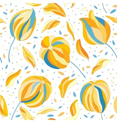 seamless pattern with colorful flower buds vector image vector image