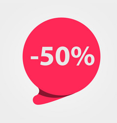 special offer sale red tag discount offer price vector image vector image