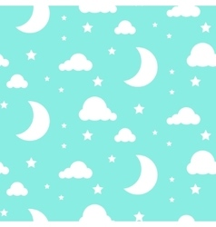Starlight night blue seamless pattern vector