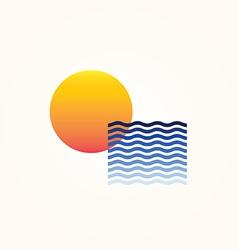 Sun sea vector