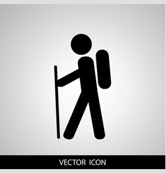 Travel tourist icon vector