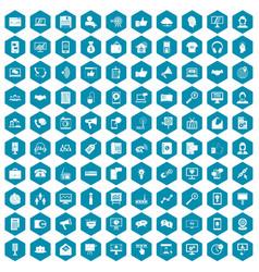 100 help desk icons sapphirine violet vector image