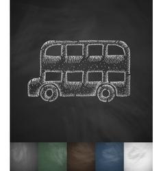 bus icon Hand drawn vector image