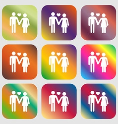Couple in love sign icon vector