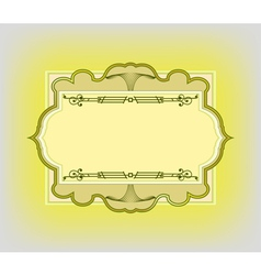 Vintage styled card vector image