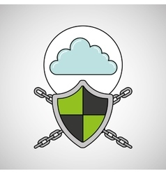 Security system data cloud vector