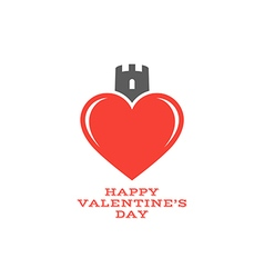 Happy Valentines day Abstract heart vector image
