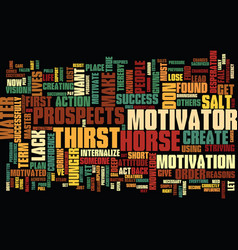 Find the motivator that creates hunger text vector
