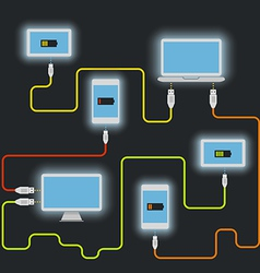 Different devices vector