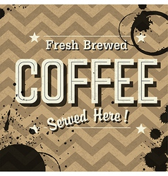 Grunge coffee card vector