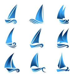sailboat symbol vector image