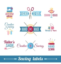 Sewing labels pictograms collection vector