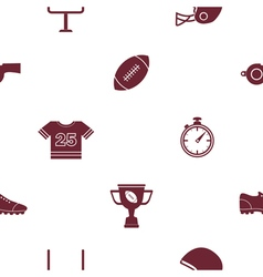 Seamless background with american football icons vector