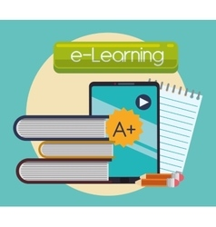 Elearning and ebook design vector