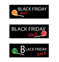 Tape measure on black friday sale banners vector