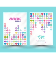 Cover template design colourful vector