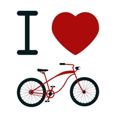 I love bicycle t-shirt design vector