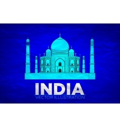 India taj mahal on vector