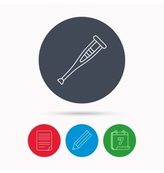 Crutch icon orthopedic therapy sign vector