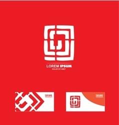 Abstract labirinth logo design vector
