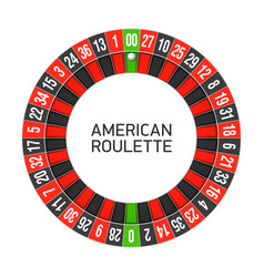 American roulette wheel vector