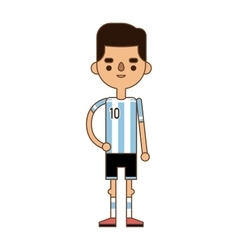Argentine soccer player vector image