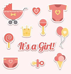 Baby shower for a girl vector