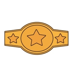 Boxing championship belt isolated icon vector