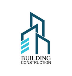 building construction logo vector image vector image